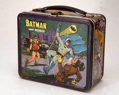 batman & robin metal lunch box