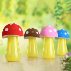USB Mushroom LED Light Humidifier Purifier Nebulizer Air Diffuser Atomizer