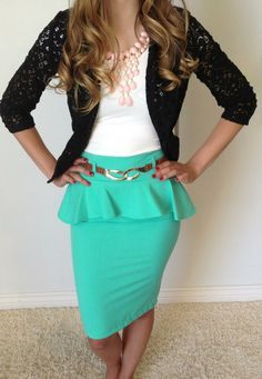 Sophisticated Lace Blazer is perfect paired with our Prim & Proper Pencil Skirts! Too adorable to pass up! And on sale for $28! http://www.sexymodest.com/products/sophisticated-lace-blazer #sexymodestboutique #newarrivals #laceblazer #mintpencilskirt #sale #sexymodestboutique