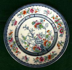 "19th Century Ridgway Dinner Plate - Indian Tree (Vesper) 2/2796 10 1/4"""