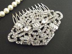 Vintage style Bridal hair comb Wedding by nefertitijewelry2009, $45.00
