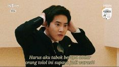 """auls🐣 on Twitter: """"… """" Quotes Lucu, Jokes Quotes, Movie Quotes, Funny Quotes, Memes Funny Faces, Funny Kpop Memes, Exo Memes, Quotes Drama Korea, Korean Drama Quotes"""