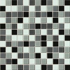 "Found it at AllModern - Illustrations 1"" x 1"" Ceramic Mosaic Tile in Pewter Blend"