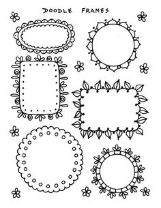 Bible Journaling Clip Art 4 pages to create fun and beautiful designs in your bible christian study scriptures Bible Crafts, Bible Art, Tattoo Girls, Journaling, Bullet Journal Headers, Doodle Frames, Henna Style, Doodle Art Journals, Pin On