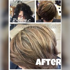 Say no to box dye!! before and after partial highlights by @Gabby Ceballos  Instagram: BeautyBella08 Facebook:BeautyBellaHair