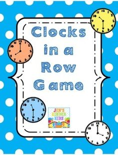 This is a fun little game to practice telling time to the hour & half hour. Two versions of the game are included.PLEASE leave feedback & follow my TpT store if you snag this fun game! :)Thank you!! :)
