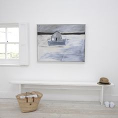 RETREAT. From a series of five paintings entitled Remote by artist Ben Lowe, this peaceful picture was the result of an escape from the Big Smoke to the countryside. We've got these prints in our homes and can vouch for just what these do for a room.