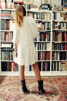 asi viste la directora de moda de Vogue dia III: vestido de dree hemingway