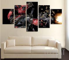Deadpool Painting - 5 Piece Canvas