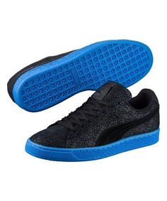 premium selection b61dc 87e77 PUMA® Black   French Blue Suede Classic Culture Surf Sneaker