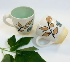 Mug in Woodland Pattern by krystalspeck on Etsy