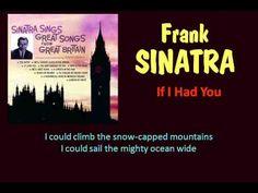 If I Had You (Frank Sinatra - with Lyrics)