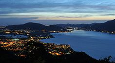 Very nice from Lago Iseo by night Italy