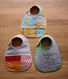 Bibs from Simple Sewing for Baby by Lotta Jansdotter