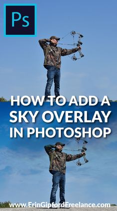 Download FREE sky overlays!Add a dramatic look and feel to any photography buy easily adding a sky overlay. It's four simple steps but the results are amazing. #photoshop #skyoverlays #photoshoptutorial