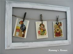 Kammy's Korner: Postcards, Jute, and Junked Frames OH MY!