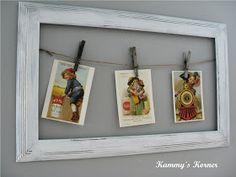 Kammy's Korner: Postcards, Jute, and Junked Frames OH MY!