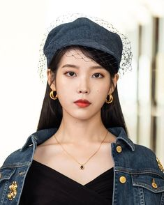 From Audrey Hepburn looks, to Chanel leather coats, to Denim ensembles, you will surely love IU's killer styles in spite of her devilish attitude in Hotel del Luna. Shop the entire look here Iu Fashion, Denim Fashion, Korean Fashion, Audrey Hepburn, Korean Girl, Asian Girl, Korean Celebrities, Celebs, Chanel