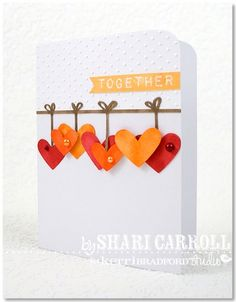 So cute -- love the hanging hearts.
