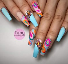 These nail designs are as easy as they are adorable. When you're constantly on the lookout for options and brand-new designs, nail art designs are a good way to demonstrate your character and also to be original. Crazy Nails, Dope Nails, Bling Nails, Stiletto Nails, Fun Nails, Coffin Nails, Crazy Nail Designs, Creative Nail Designs, Creative Nails