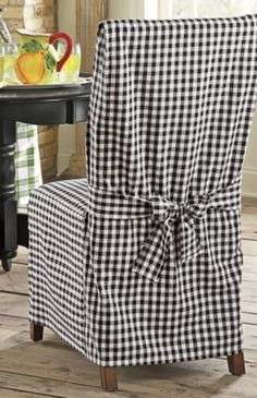 Incroyable Chair Cover, Black Gingham From Through The Country Door®