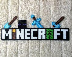 Minecraft Logo OR Personalized Name Perler Bead Pixel Art