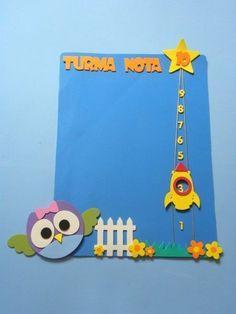 Painel Turma Nota 10 para educação infantil Coruja www.petilola.com.br