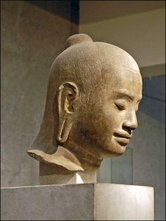 Portrait présumé de Jayavarman VII, fin XIIème -début XIIIème, époque angkorienne, style du Payon, Cambodge, province de Siemréap,
