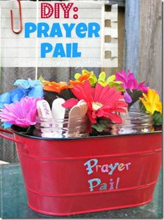DIY Prayer Pail. Develop the joy & discipline of prayer in the lives of your children.
