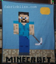 Minecraft Quilt DIY project - Steve   by fabric.bliss