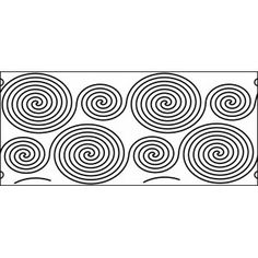 10 inch contiuous spirals quilt template www.quilt-ez.com