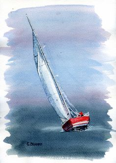 images of sailboat paintings | Pin Sketch Of Sailboat on Pinterest