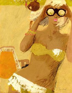 Bernie Fuchs. Summer sun in the 60s. A scene right out of the Mad Men episodes where Don Draper is in California. So mod.