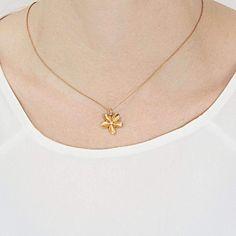 Frangipani Small Single Flower Pendant   JewelStreet US