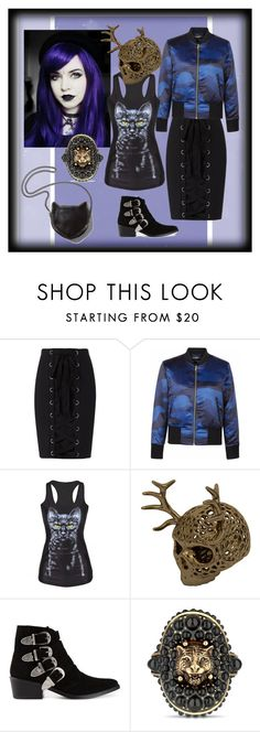 """""""Skull fantasy"""" by yaschy ❤ liked on Polyvore featuring Exclusive for Intermix, WithChic, Toga, STELLA McCARTNEY, Gucci and skull"""
