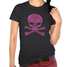 Printed Pink Rhinestone Skull & Crossbones T Shirt In our offer link above you will seeHow to Printed Pink Rhinestone Skull & Crossbones T Shirt Online Secure Check out Quick and Easy. Love T Shirt, Shirt Style, Cool Printed T Shirts, Skull And Crossbones, Shirt Designs, Casual, How To Wear, Prints, Clothes