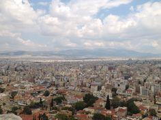Athens, Greece Panoramica di Atene vista dal Partenone