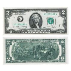 1976 Bicentennial $2-- oooh!  I have one of these in my wallet right now!!  For reals, ya'll!