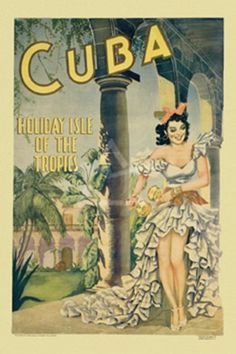 Art Poster: Cuba Travel Advertising The Real Thing Not Reproduced Wide And Long - The Zedign House - Store Vintage Cuba, Vintage Party, Wedding Vintage, Vintage Ideas, Images Victoriennes, Gaspard, Portraits, Cuba Travel, Canvas Prints
