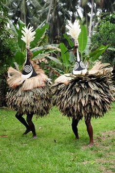 Duk duk masqueraders from Papua New Guinea
