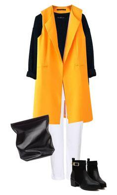 """""""Yellow Yellow Jealous Yellow"""" by natyleygam ❤ liked on Polyvore featuring Chicnova Fashion, Designers Remix, J Brand, Jil Sander, Fall, yellow, blackandwhite and jacket"""