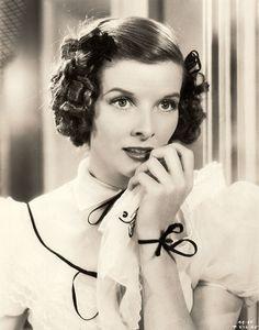 Katharine Hepburn in Alice Adams (1935)   dress is Hollywood 1020 pattern