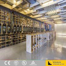 現代のスタイルユニークなデザインワインキャビネットセラーディスプレイ棚ラック中国製