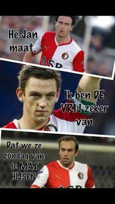 He Janmaat, ik ben De Vrij zeker van dat we Ajax in de Arena van de Mat hijsen. Rotterdam, Club, Baseball Cards, Sports, Hs Sports, Excercise, Sport, Exercise