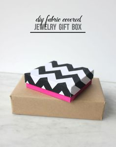 Fabric Covered Jewelry DIY Gift Boxes - Mod Podge Rocks