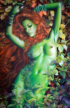 Poison Ivy by Fred Ian #FredRoy #FredIan #PoisonIvy #PamelaIsley #Batman #Gotham #GothamSirens #BirdsofPrey #SuicideSquad