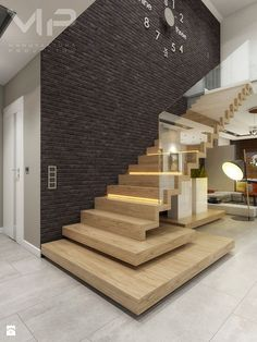 Faltwerktreppe mit Glas Staircase with glass This image has get Staircase Design Modern, Home Stairs Design, Modern Stairs, Railing Design, Interior Stairs, Modern House Design, Home Interior Design, Interior Architecture, Staircase Ideas