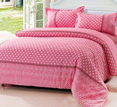 Classic Polka Dot Duvet Cover All Blue/Green/Yellow/Pink Polka Dot Comforter Sets Skin friendly Cotton Designer Bedding Set Sale-in Bedding Sets from Home & Garden on Aliexpress.com | Alibaba Group