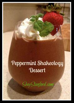 Peppermint Shakeology Dessert