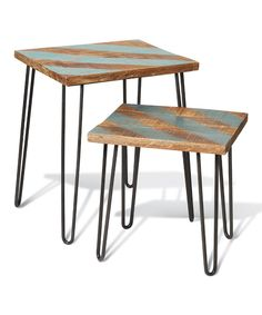 Take a look at this Blue Awning Stripe Table Set on zulily today!